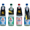 Bouteilles en verre avec 4 contours d'étiquettes de bouteille différents