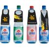 Bouteilles PET avec 4 contours d'étiquettes de bouteille différents