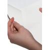 Fente au verso du papier autocollant blanc