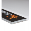 La position de la colle du bloc est au choix. Avec un carton gris de vieux papiers solide.