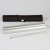 La tige télescopique démontable peut être rangée confortablement avec le listeau en aluminium dans une sacoche (illstr. similaire)
