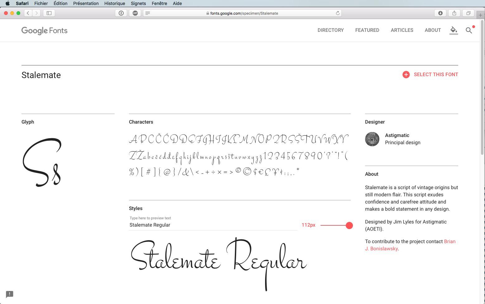 Script-Font Stalemate Regular