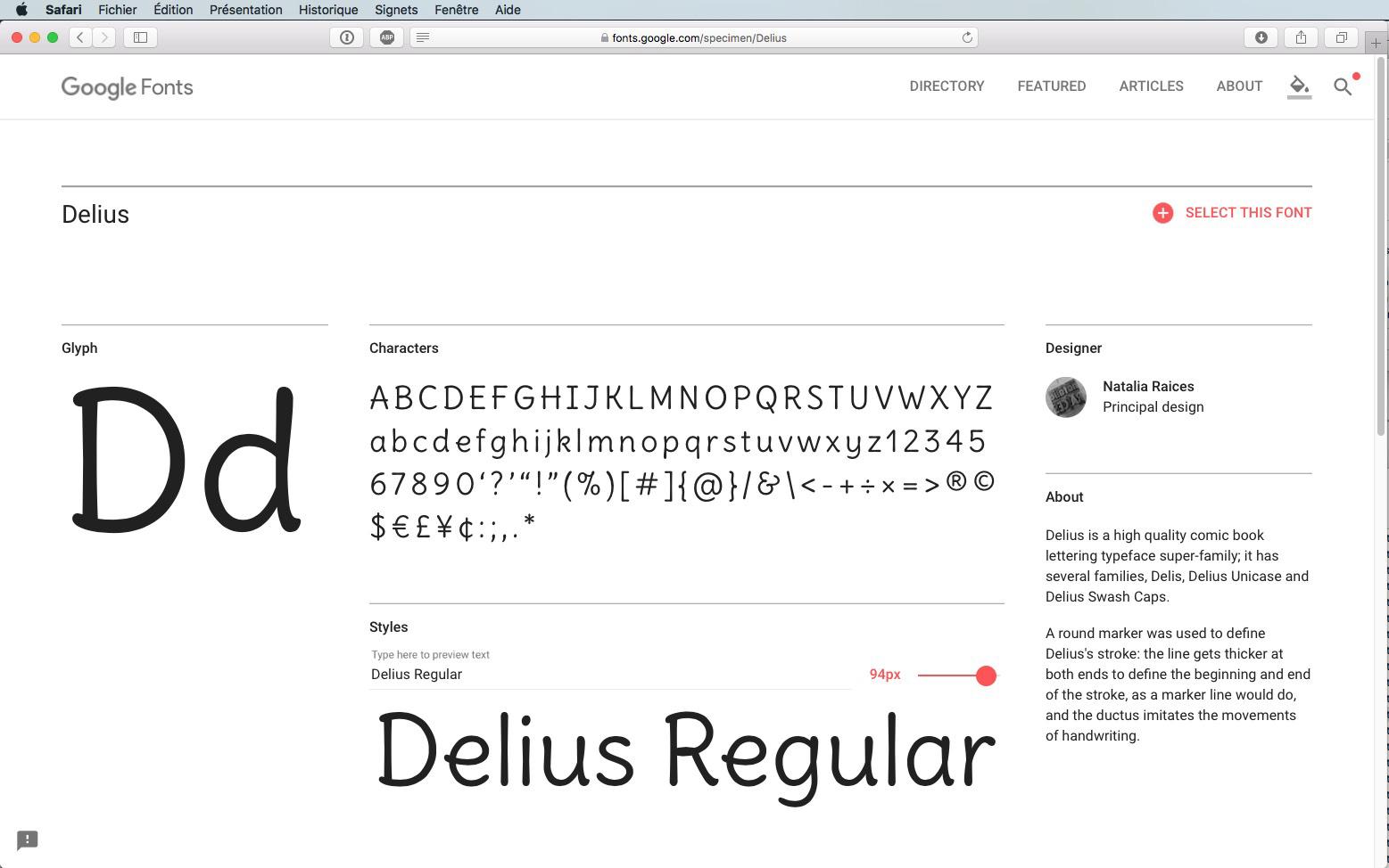 Script-Font Delius Regular