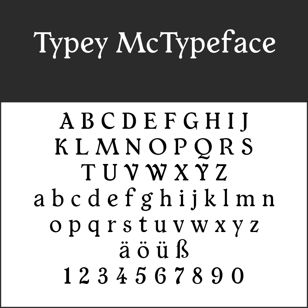Typey McTypeface by Paul James Miller